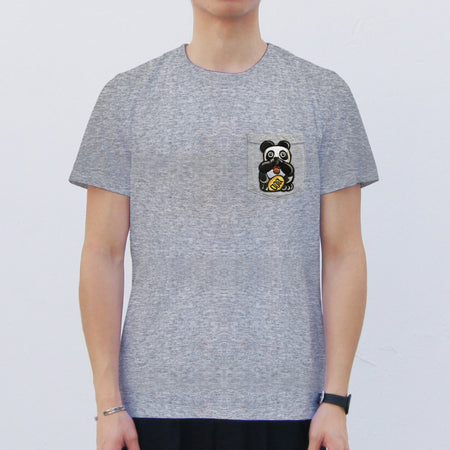 'Panda - Thumbs up' Pocket T-shirt