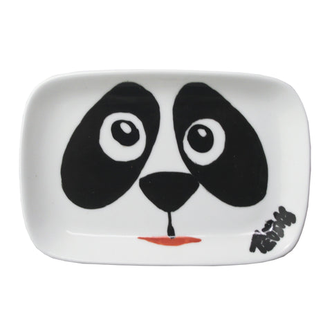 'Panda' handpainted soap dish