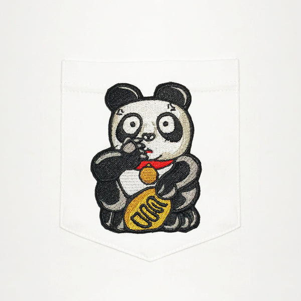 Shocked Panda Pocket T-Shirt