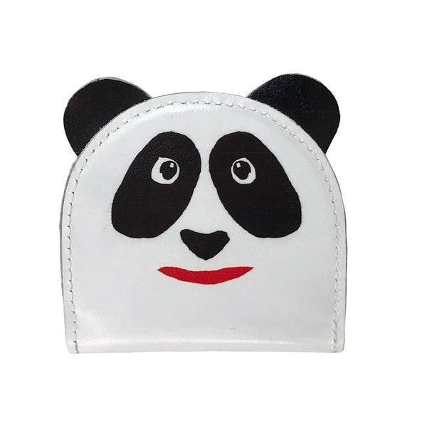 'Panda' leather coin purse