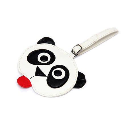 HKG luggage Tag, Red/White