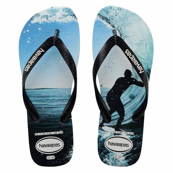 Havaianas - Top Photo Print (Black/Ocean)