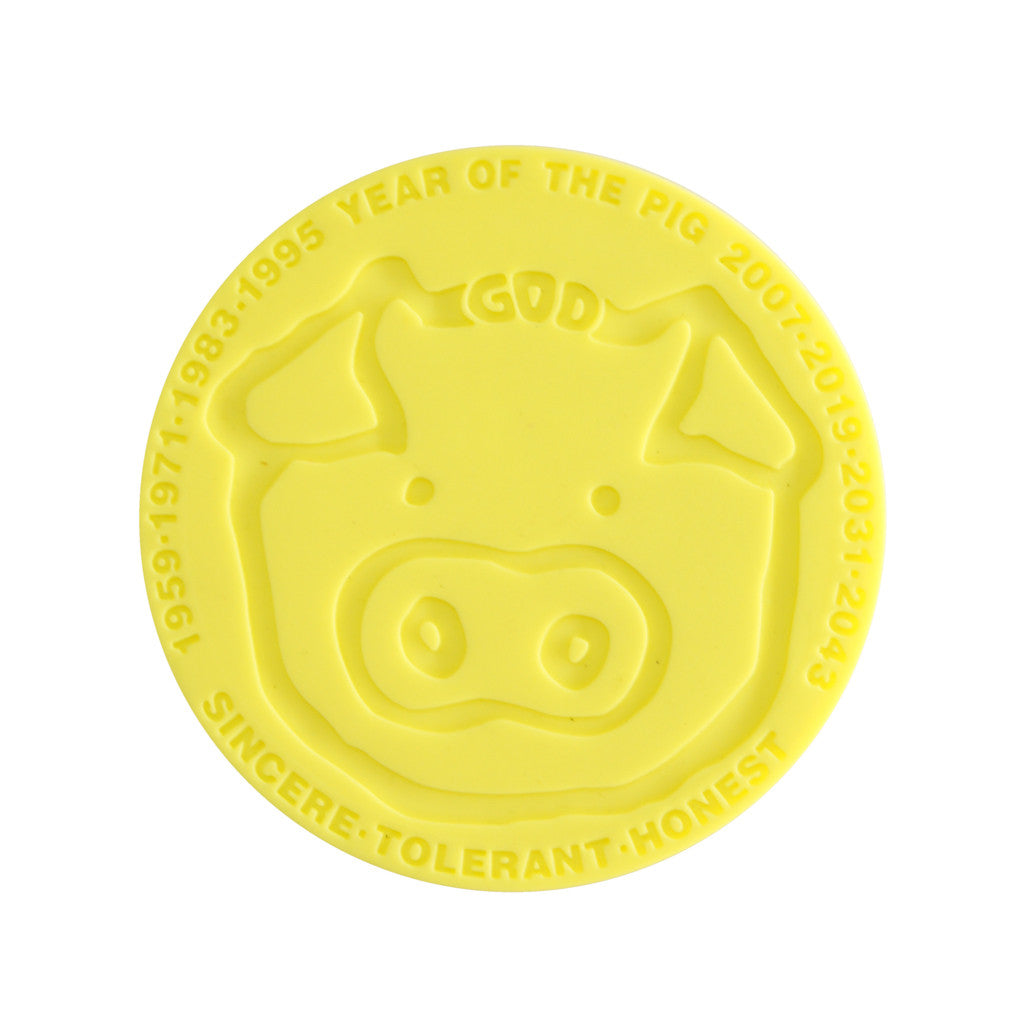 'Chinese Zodiac Pig' coaster - Goods of Desire