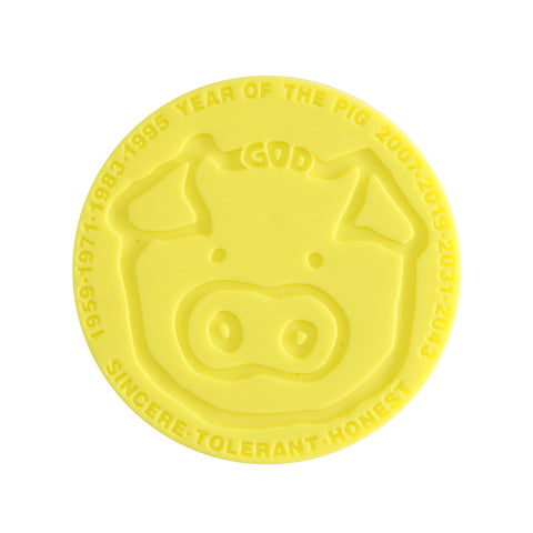 'Chinese Zodiac Pig' coaster, Tabletop and Entertaining, Goods of Desire, Goods of Desire