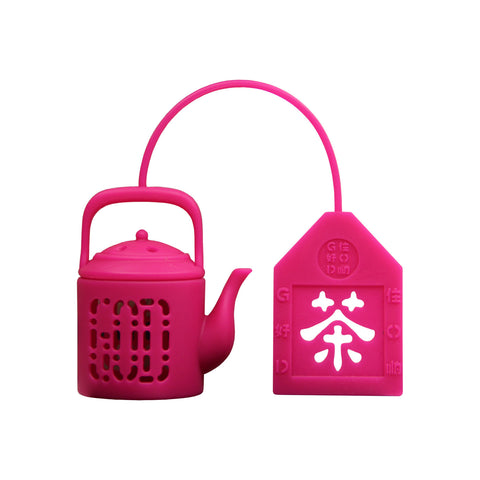 'Mini Teapot' tea infuser (fuschia)