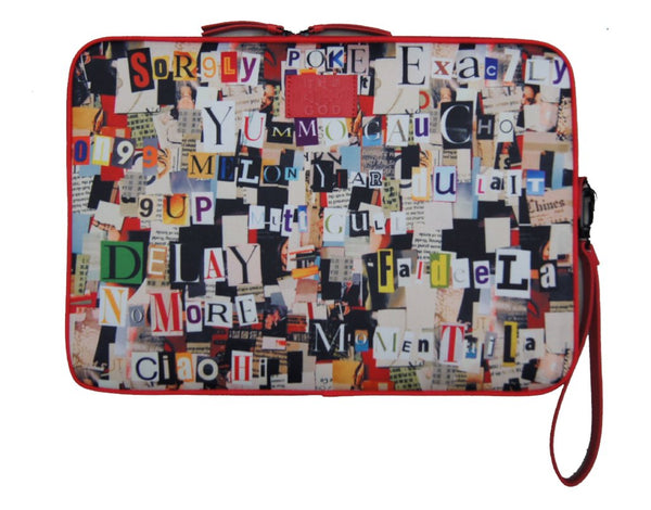 'Secret Message' A4 document holder and laptop case