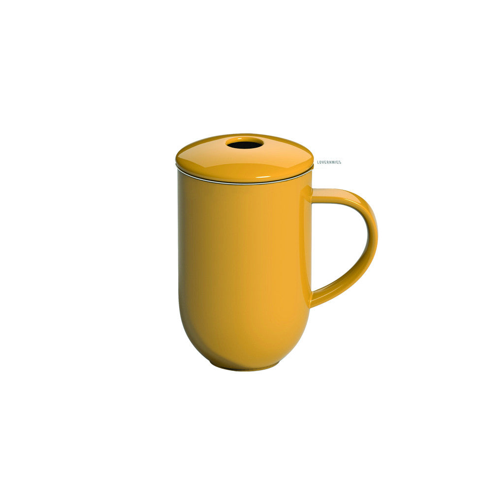 Loveramics Pro Tea 450ml Mug with Infuser & Lid - Yellow