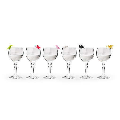 Qualy Humming Bird's Party Wine Glass Marker