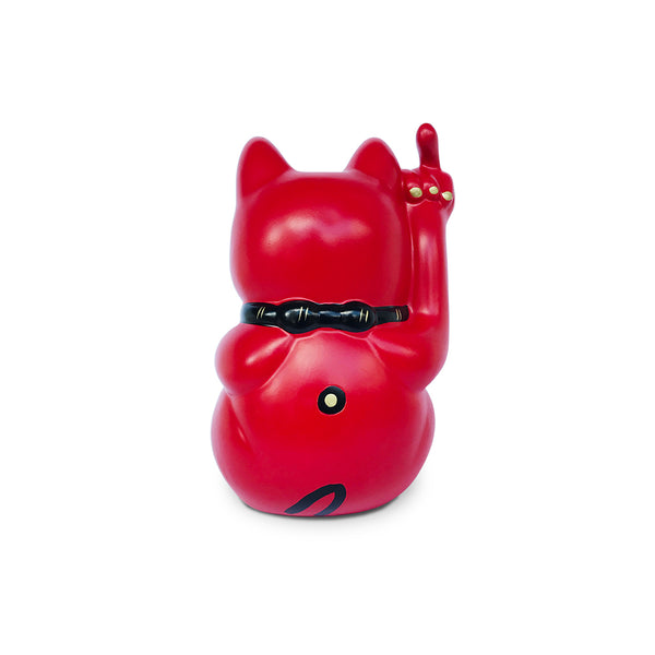 'Angry Cat' - Small, Red