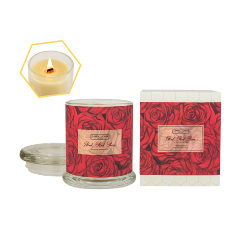 Red, Red Rose Beeswax Jar Candle by Carroll&Chan
