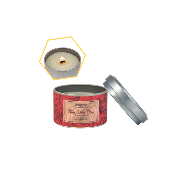 Red Red Rose Beeswax Tin Candle by Carroll&Chan