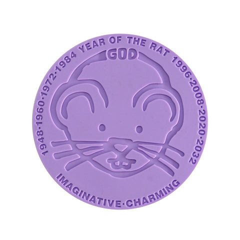 'Chinese Zodiac Rat' coaster - Goods of Desire