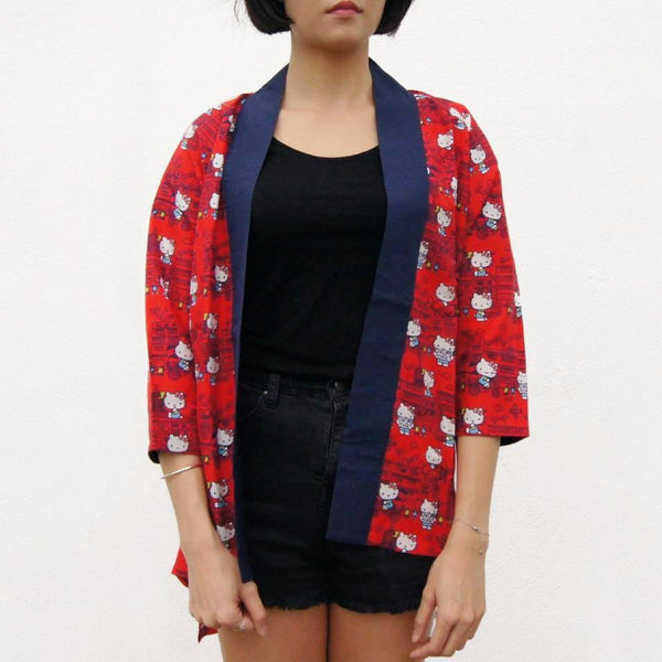 'Hello Kitty X G.O.D. Yaumati' Kimono jacket (red)