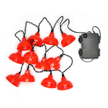 Load image into Gallery viewer, 'Red Lantern' decorative lights (string of 12)