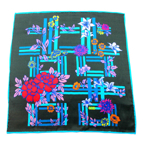 'Floral Double Happiness' pocket square