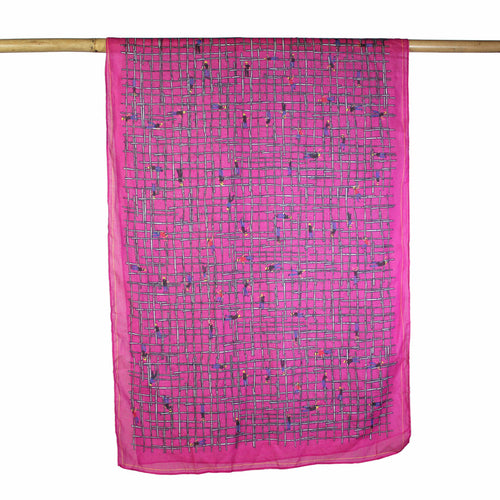 'Bamboo Scaffolding' cotton scarf