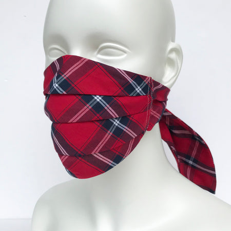 Colour Stripes Scout Mask, Red