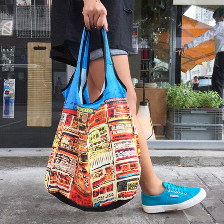 'Nathan Road' foldable shopping bag
