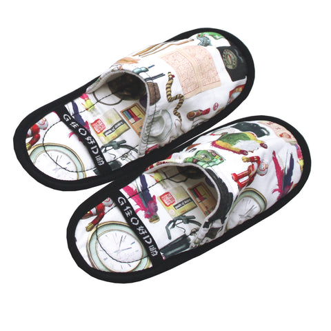 'Paraphernalia' foldable travel slippers