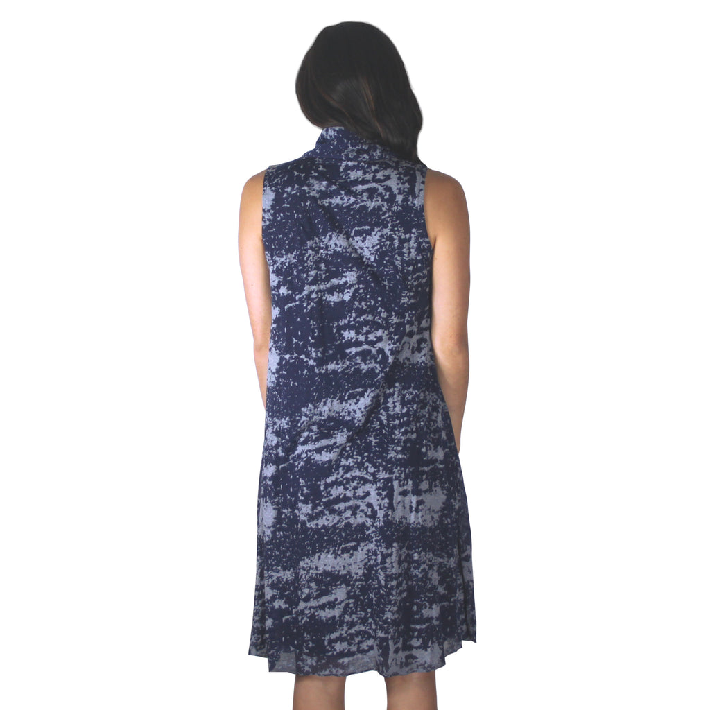 Sleeveless Qipao Dress (Blue)