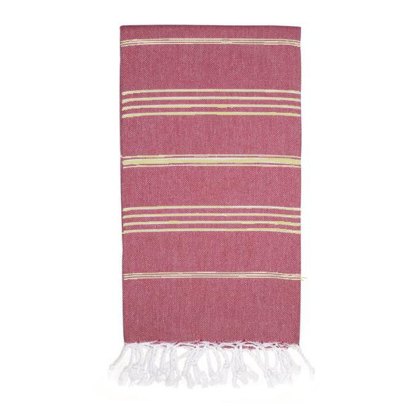 Classic Turkish Towel, Golden Red