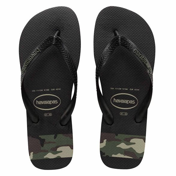 Havaianas - Top Stripes Logo (Black/Green)