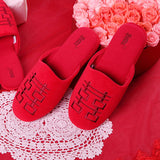 Betta 'Double Happiness' ladies' slippers (red)