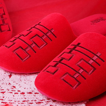 Betta 'Double Happiness' men's slippers (red)