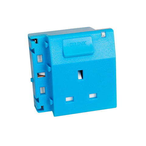 ALPHALINK Socket 1 Outlet , Blue