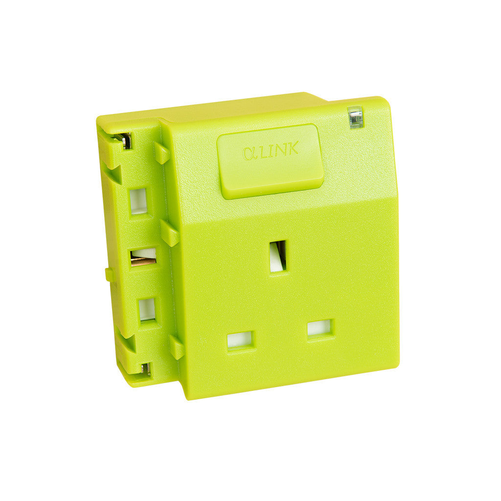 ALPHALINK Socket 1 Outlet , Green