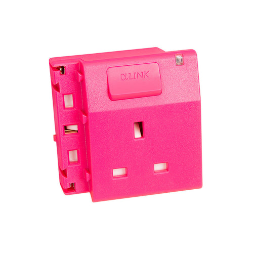 ALPHALINK Socket 1 Outlet , Pink