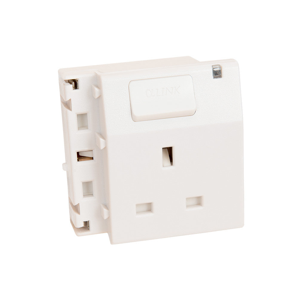 ALPHALINK Socket 1 Outlet , White