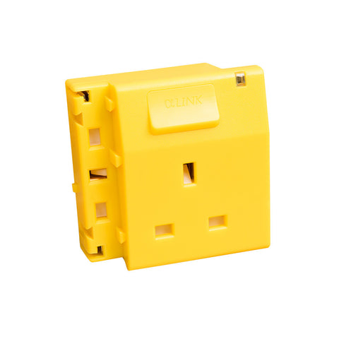 ALPHALINK Socket 1 Outlet , Yellow
