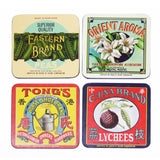 'Vintage Brands' coaster set of 4