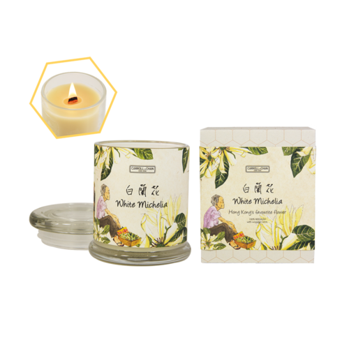 White Michelia Beeswax Jar Candle by Carroll&Chan