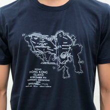 Load image into Gallery viewer, 'WWII HK Island' T-shirt, Navy Blue