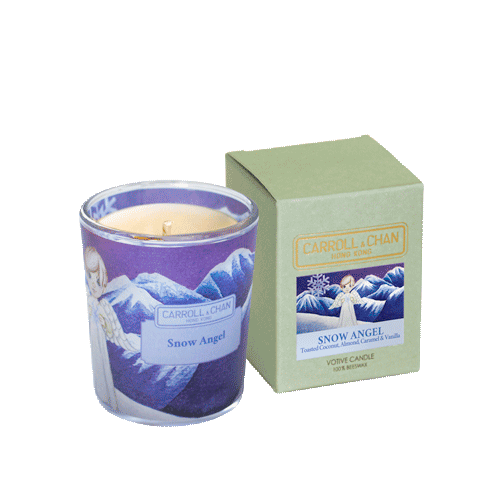 Snow Angel Beeswax Votive Candle by Carroll&Chan