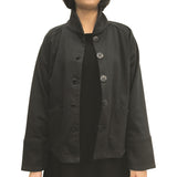Chinese Collar Sung Jacket, Black