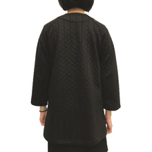 Load image into Gallery viewer, Chinese buttons round neck jacket, Black Braided