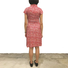 Load image into Gallery viewer, 'Red/Orange finery' Printed Qipao Dress