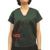 Chinese Button Top with Piping, Green