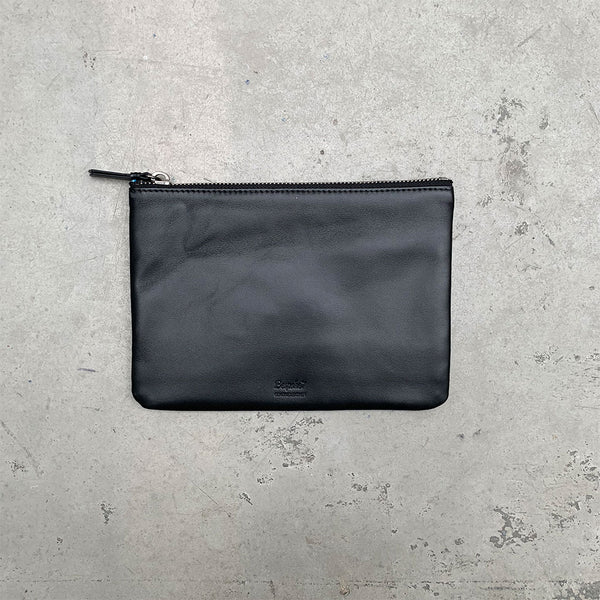 'Yaumati' Leather Essential Flat Pouch