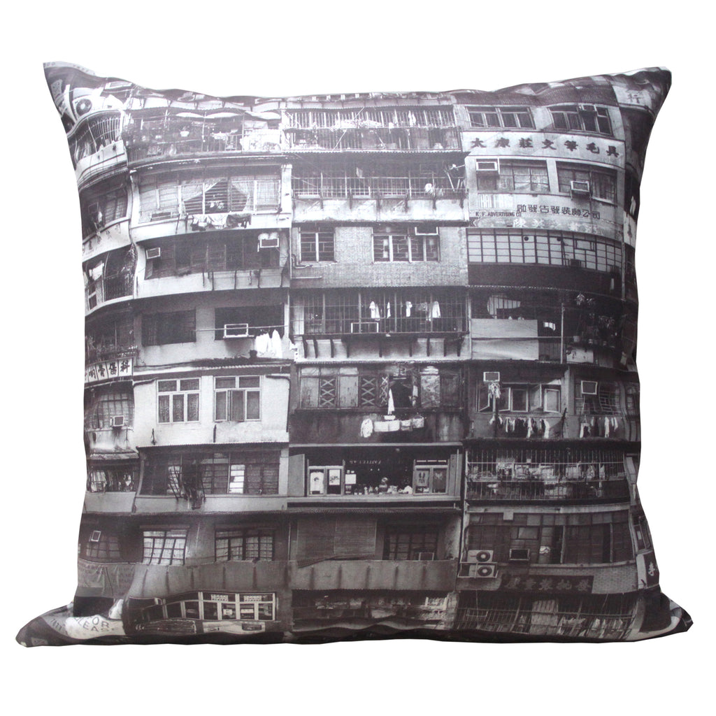 'Yaumati' black and white cushion cover (45 x 45 cm)