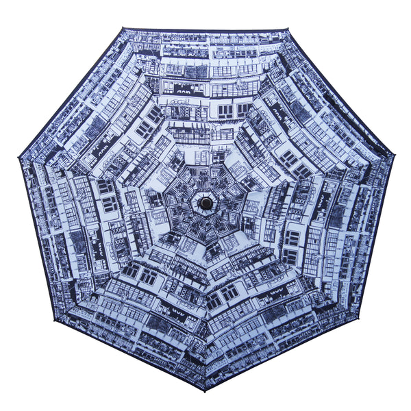 'Yaumati Sketch' Teflon auto umbrella