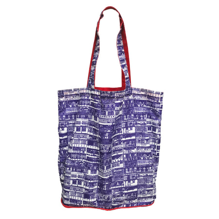 'Yaumati Sketch' zip-wallet shopping bag