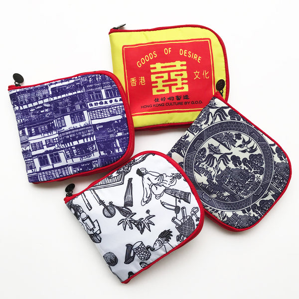 'Double Happiness Matchbox' Zip Wallet Shopping Bag
