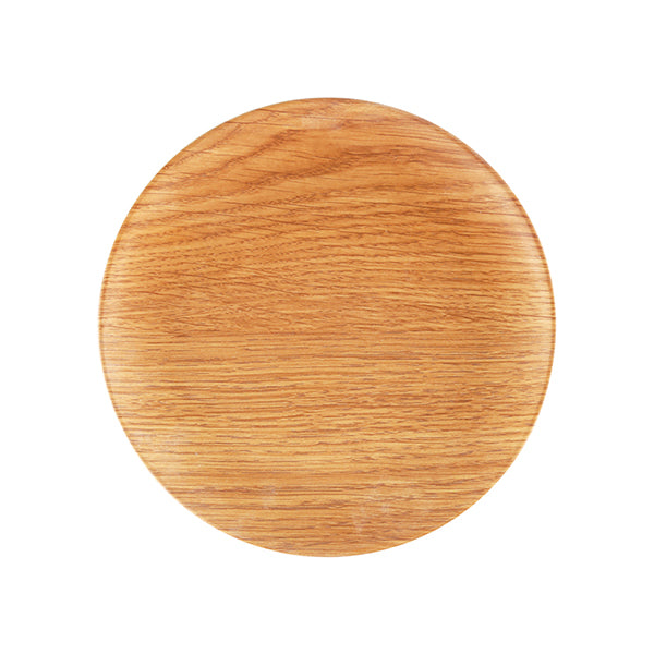 Zicco Round Plate, Light Wood