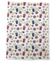 Load image into Gallery viewer, Liz Fry Design Tea Towel, Mongkok Snacks