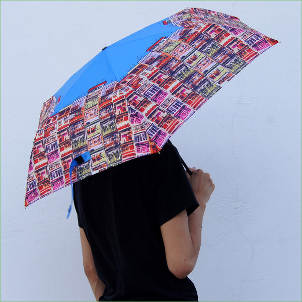 'Alex Croft x G.O.D. Graffiti Wall' superlight umbrella, Accessories, Goods of Desire, Goods of Desire