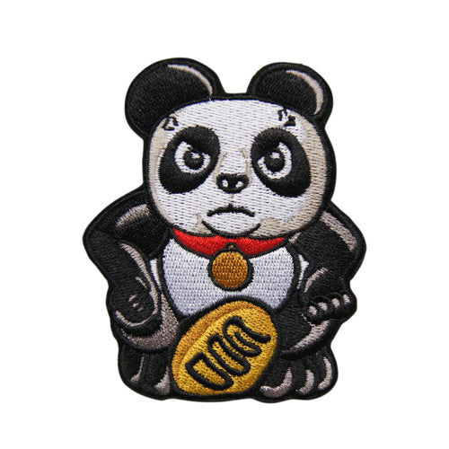 'Panda (Angry)' embroidered patch